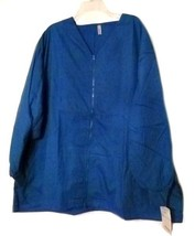 Loft Scrub Jacket Women's Royal Blue 4XL Gold Coast Zip Front V Neck Uni... - $21.31