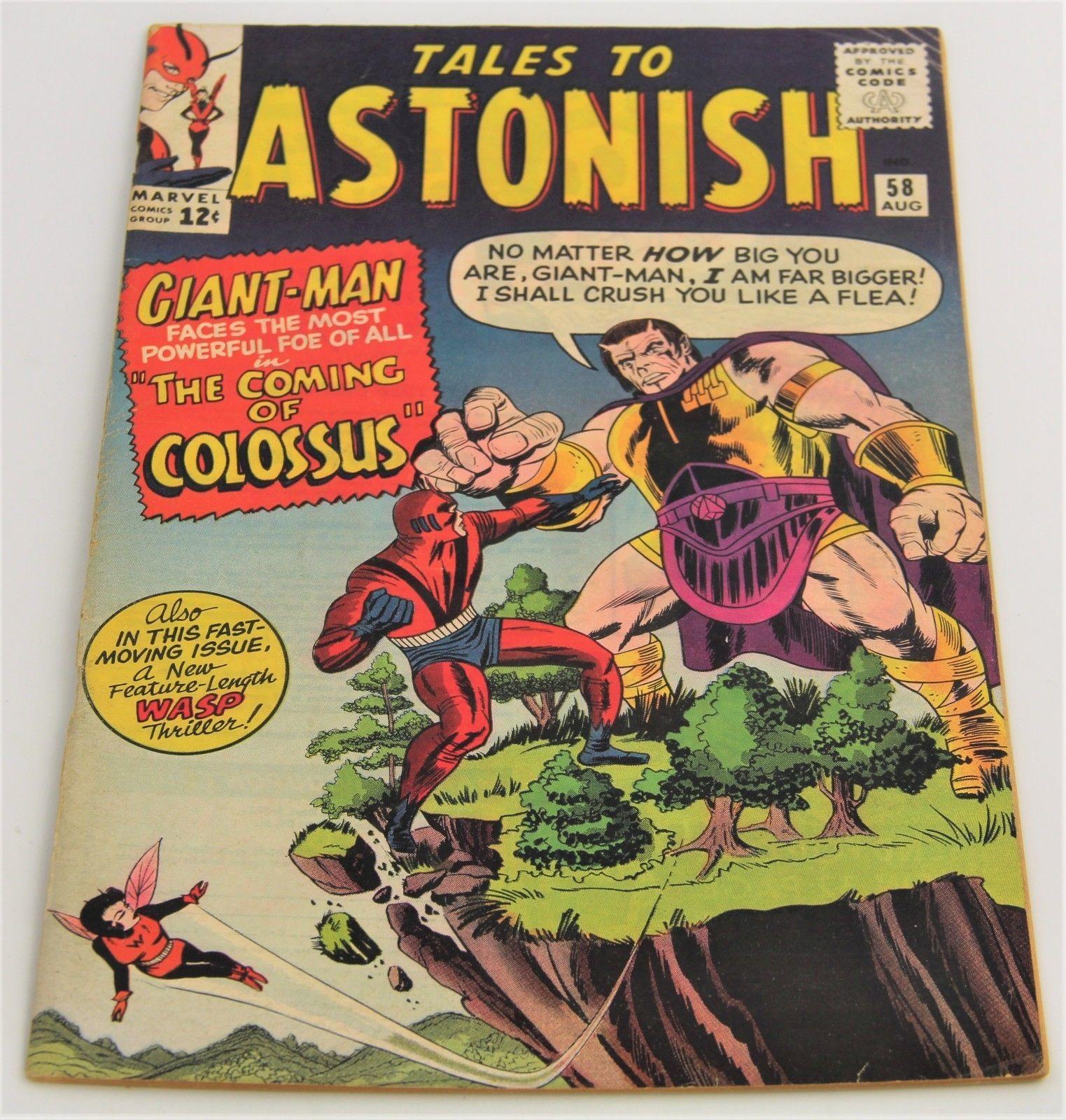 Tales To Astonish # 58 Marvel Comics 1964 Fine Minus Giant-Man WASP Avengers