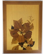 16 X 12 INTRICATE POLYNESIAN FLOWER INSET WOOD WALL PICTURE HANGING HOME... - £39.24 GBP