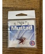 Mustad treble hook size 10 red - $18.69