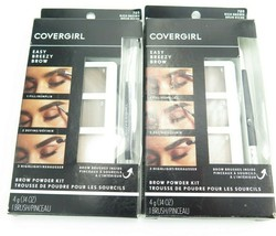 Covergirl Easy Breezy Brow Powder Kit 705 Rich Brown *Twin Pack* - $11.29