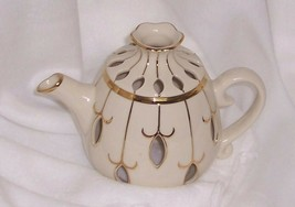 PartyLite Tea For Two Exquisite White and Gold Tea Pot Tealight Holder P... - $1.93