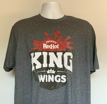 Franks Red Hot King of Wings Distressed Logo T Shirt Mens XL 100% Poly B... - $22.72