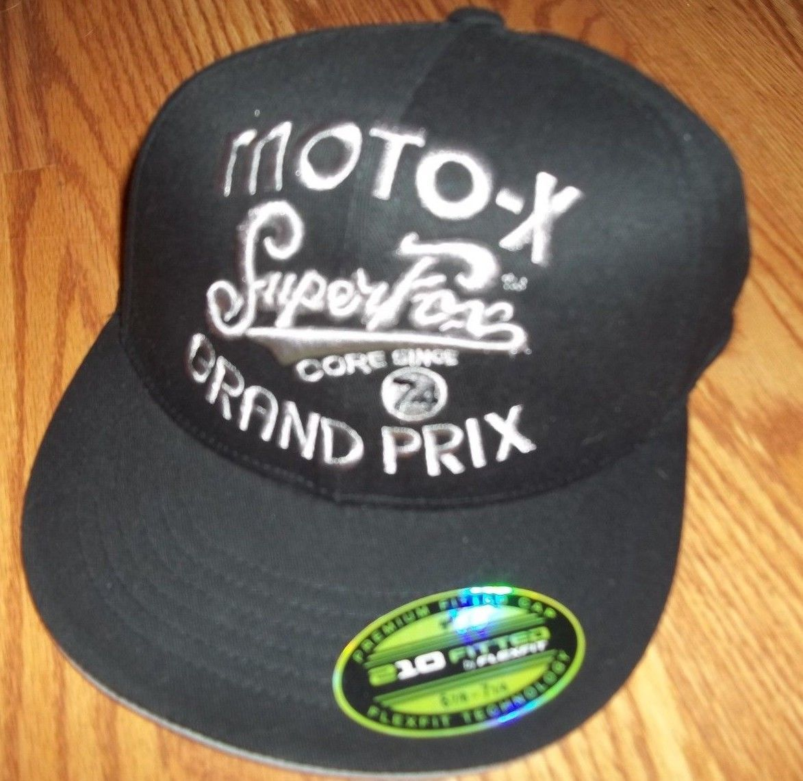 Fox Racing Moto X Black Fitted Hat Size Small Medium Brand New