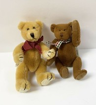 Vintage Bear - Set Of 2 - Ganz Cottage Collectibles 1995 & Boys Collecti... - $14.44