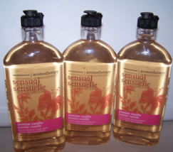 3 Bath & Body Works Aromatherapy Sensual Jasmine Vanilla Foam Bath & Bod... - $74.99