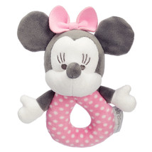 Disney Minnie Mouse Plush Rattle for Baby New with Tag - $20.26