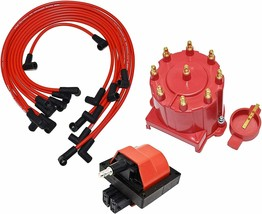 87-84 Chevy GM 305 350 454 EFI Distributor Tune Up Kit, & 8.0mm Spark Plug Wires