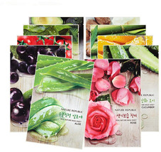 Korea Cosmetic Nature Republic Real Nature Mask Sheets 10pcs/lot Face Ma... - $43.28