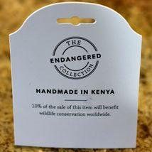 Acacia Creations Hand Carved Jacaranda Wood Safari Rhinoceros Rhino Magnet image 7