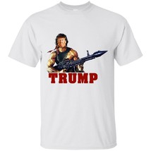 White Funny Donald Trump Rambo T-Shirt Support Trump 2020 Men's Clothing... - $17.77+
