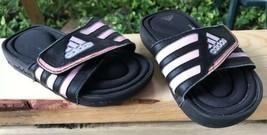 Favorite Adidas Girl's Foam Slide Sandals Sz 13 US 13 UK 32 FR Black Pin... - $12.26