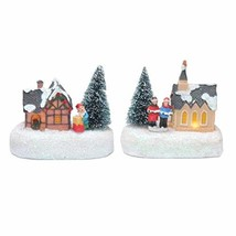 innodept12 Christmas Traditional Figurine Ornament House Village Tree Sa... - $21.12