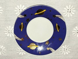 Vintage Department 56 Mini Teacup Saucer Sun Moon Stars Clouds Astrology... - $14.95