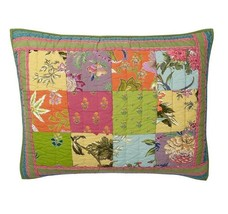 Company Store JUBILEE Patchwork Pillow Sham 100... - $87.03