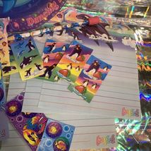 90s wow LISA FRANK LOT Dolphin PLATES Assorted Stickers Stationery Pencil Roary image 5