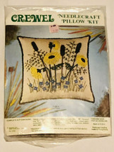 Crewel Needlecraft Pillow Kit T-153A Cattail Vintage - $19.99