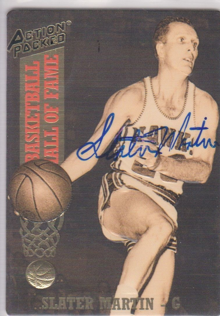 Slater Martin Signed Autographed 1993 Action Packed Basketball Card - Atlanta Ha