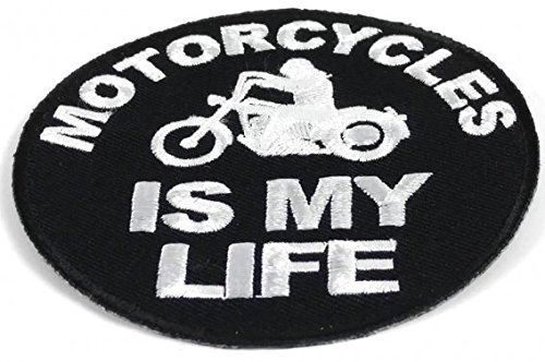 Motorcycles Is My Life Round Patch - 3.5 inch