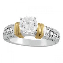 Women's Wedding Anniversary Ring 14k White Gold Plated 925 Silver Round ... - $73.60