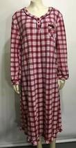 Karen Neuberger Womens XL Red White Nightgown Sleepshirt Long-Sleeve Bel... - $35.77