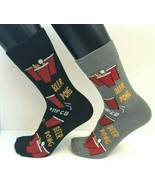 2 PAIRS Foozys Men's Socks BEER PONG, One Black One Gray Pair, New Ships... - $8.99
