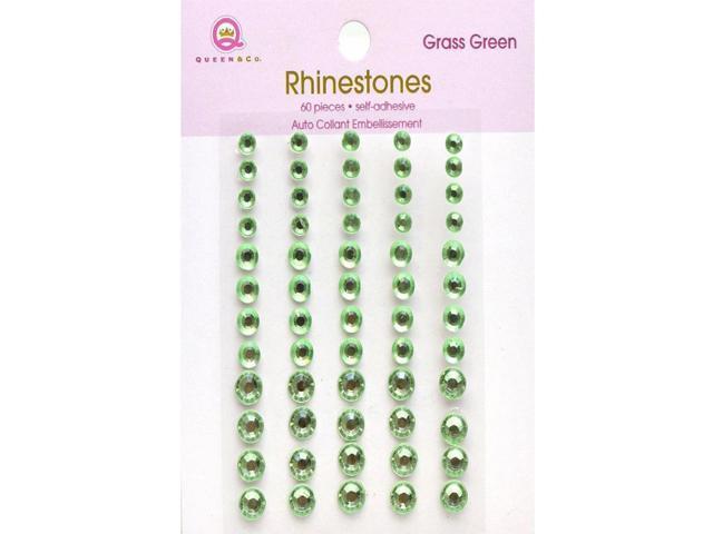 Queen & Co. Grass Green Rhinestone Stickers