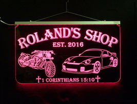 Personalized Motorcycle, Race Car LED Sign, Man Cave, Garage Sign, Gift for Dad image 8