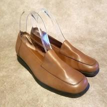 Lizflex by Liz Claiborne Womens Charleston  Sz 7 Brown Leather Slip On Loafers - $29.99
