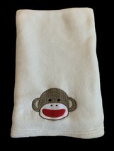 Baby Starters Sock Monkey Face Plush Baby Blanket, Cream Colored. - $29.69