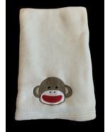 Baby Starters Sock Monkey Face Plush Baby Blanket, Cream Colored. - $29.69