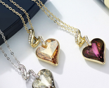 Heart love chain necklaces   pendants for women 2017 gift india jewelry js4 he1 12 thumb155 crop