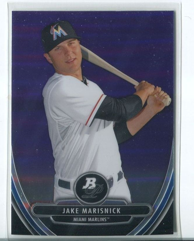 Primary image for JAKE MARISNICK PURPLE REFRACTOR RC 2013 Bowman Platinum Chrome Prospects #BPCP52