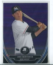 JAKE MARISNICK PURPLE REFRACTOR RC 2013 Bowman Platinum Chrome Prospects... - $2.75
