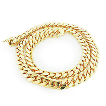 Yellow .925 Sterling Silver Solid Miami Cuban Curb Link Chain Necklace - £95.15 GBP+