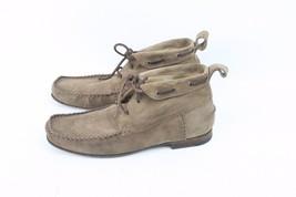 MONDERER DESIGN Suede Leather Brown Size 9.5 (42 1/2) Made In France - $39.99