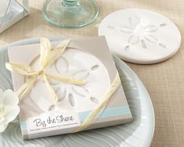 50 Beach Summer Sand Dollar Coaster Bridal Wedding Favors in Gift Box - $121.13