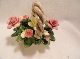Small Capodimonte Porcelian Basket of Flowers - $9.99