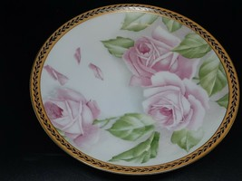 "Rosenthal Pink Roses on white with pretty rim Excellent condition 8 1/8"" - $45.00"
