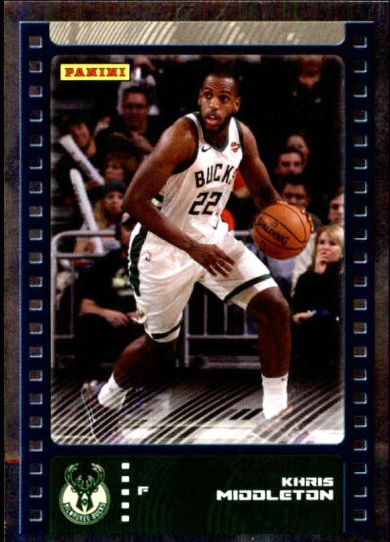 Primary image for 2019-20 Panini NBA Sticker Box Standard Size Silver Foil Insert #13 Khris Middle