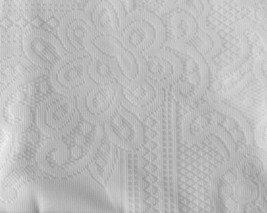 Judaica Shabbat White Lace Tablecloth Hebrew Blessing 140 X 280 cm 55 X 110 inch image 2