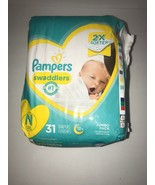 Pampers Swaddlers Soft Absorbent Diapers. Newborn N, Up To 10 Lbs, 31 Count  - $19.24
