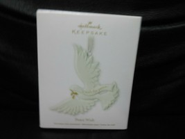 "Hallmark Keepsake ""Peace Wish"" 2011 Porcelain & Metal Ornament NEW - $5.54"