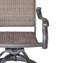 Patio outdoor Wicker Santa Clara Swivel Rocker Dining Chairs set of 4 image 5