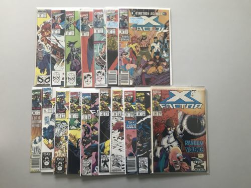 Lot of 17 X-Factor (1986 1st Series) from #50-88