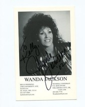 WANDA JACKSON-4X6-AUTOGRAPHED CARD-ACTRESS-CONAN-BRIDESMAIDS-WALK THE LINE - $28.86