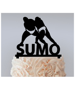 Sp4 Cake topper,Cupcake topper,silhouette SUMO Wrestlers in JAPAN Packag... - $20.00