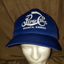 27a53351049 VINTAGE PEPSI COLA Wichita Kansas SNAPBACK CAP HAT MESH TRUCKER MADE IN ...  -