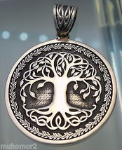 Pendant Celtic Tree of Life Amulet Jewelry 925 sterling silver (k506)  - $37.62