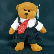 I Love My Dad The Father's Day Bear Plush Stuffed Animal Red Tie March o... - $12.86